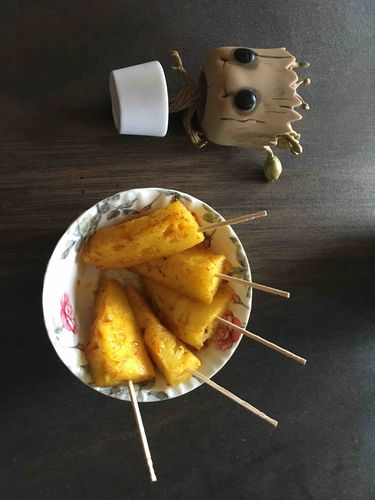 Pan fry pineapple