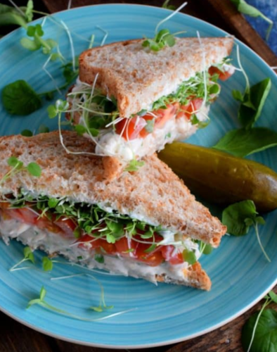 White Bean Salad Sandwiches.
