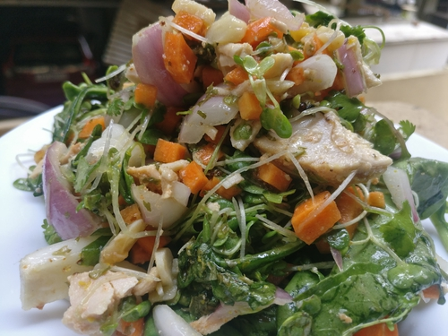 Microgreen Chicken power packed salad