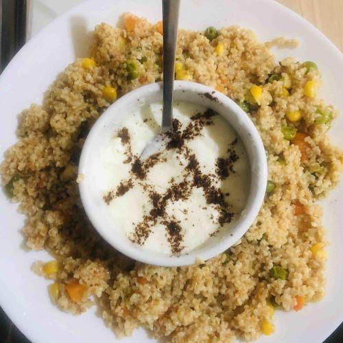 Broken wheat/ daliya khichdi (light dinner recipe)
