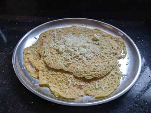 Cheesy Paneer Moong Dal Chilla