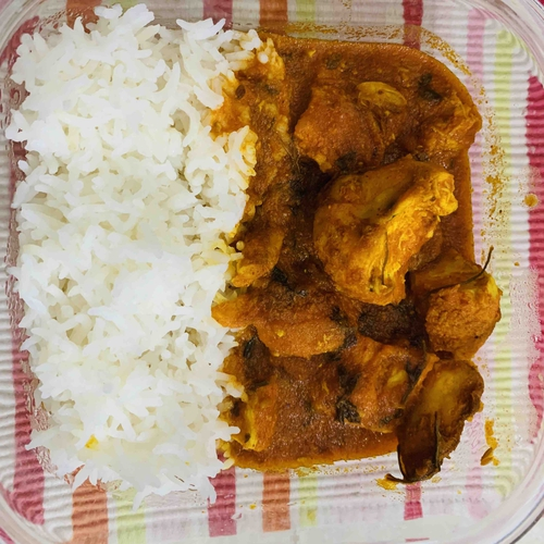 Masala Chicken with rice