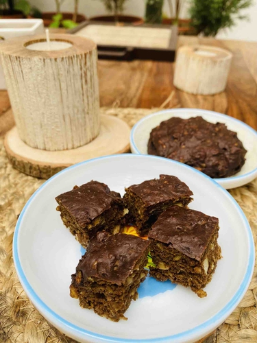high protein chickpea brownie