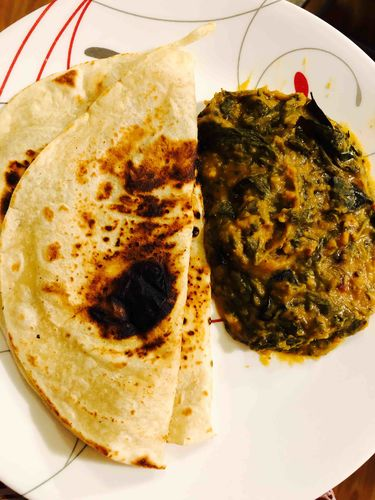 Spinach Dal one pot