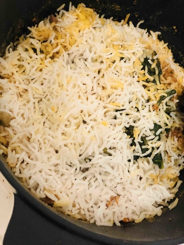 chicken spinach biriyani