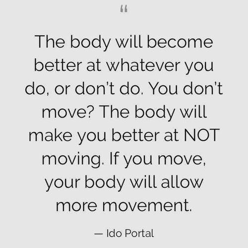 Humans are meant to move