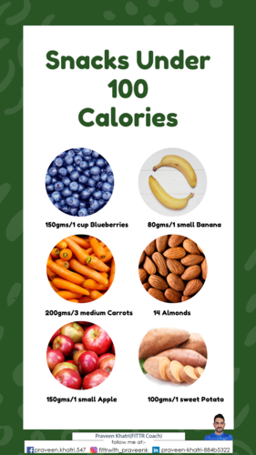 On A Diet? Check Out These Snack Options Under 100 Calories