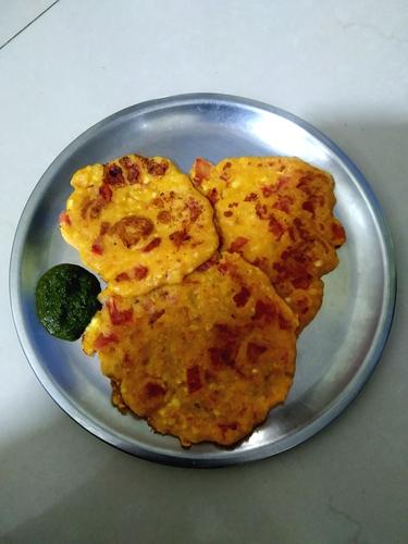 Yellow Moong dal Paneer pancake