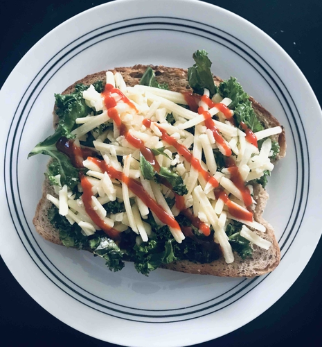Kale Cheese Toast