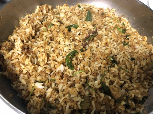 Soychunks fried rice