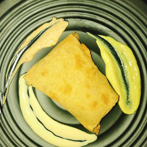 Chicken cheese tortilla roll served 3ways mayo