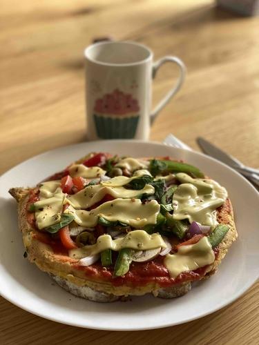 Eggizza 🍕 for breakfast