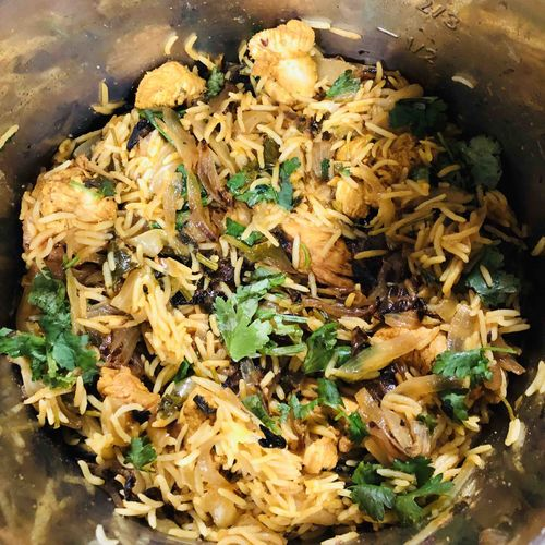 Instan pot chicken biryani