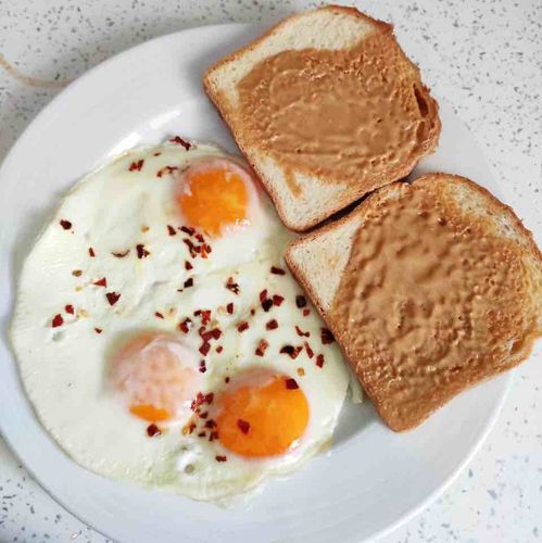 Eggs, Peanut Butter and Bread