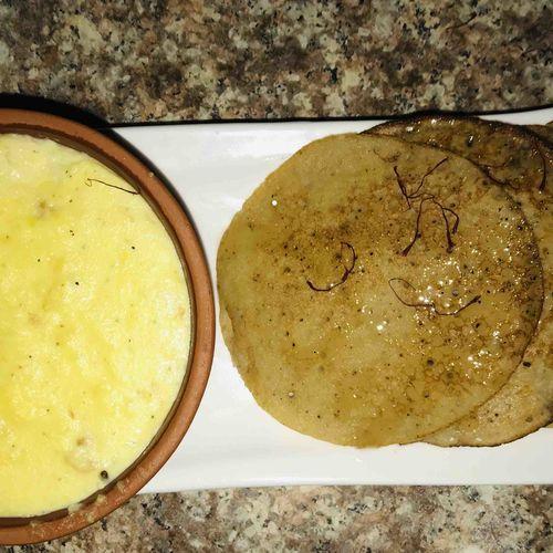 Banana Malpua with Rabri