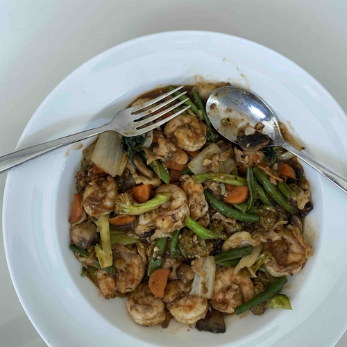 Sambal Prawns with extra loaded veggies