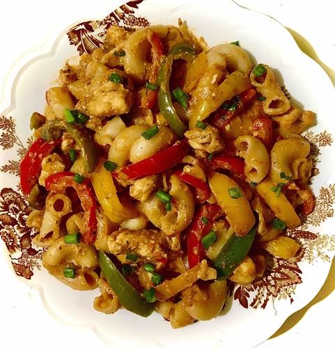 Spicy Thai Peanut chicken Pasta