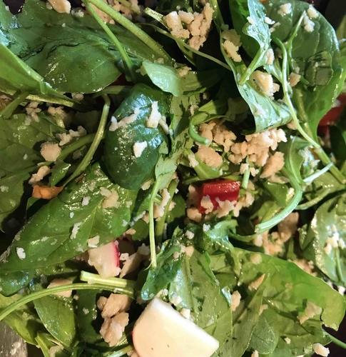 soya spinach salad
