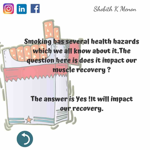 Smoking and Muscle Recovery - What's The Connection?