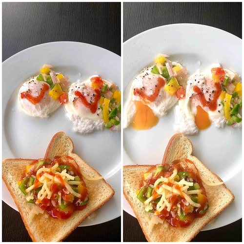 poached eggs ( old method)