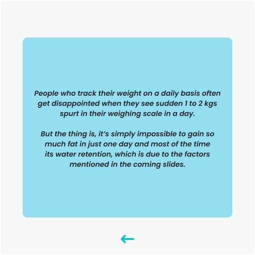 Why did you gain weight overnight?