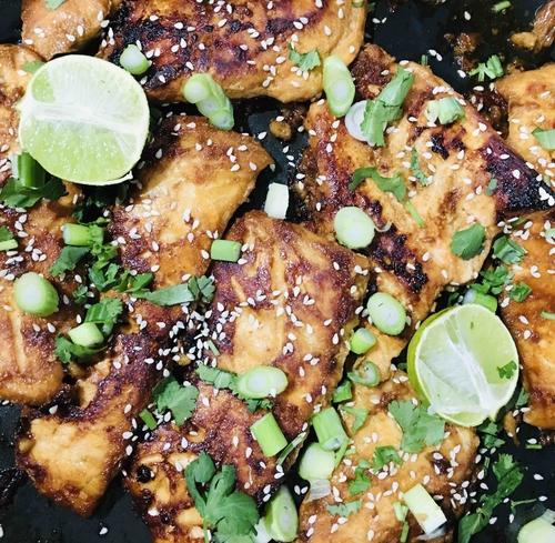 Honey Teriyaki Salmon - Serves 3
