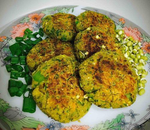 sprouts soya and greens tikki
