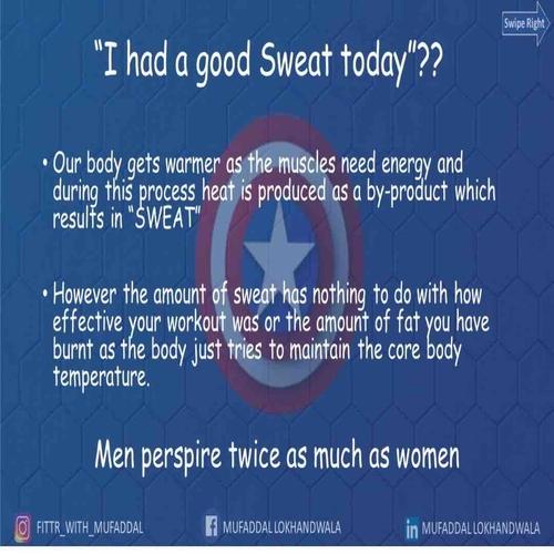 Can Sweat Really Burn Fat ??