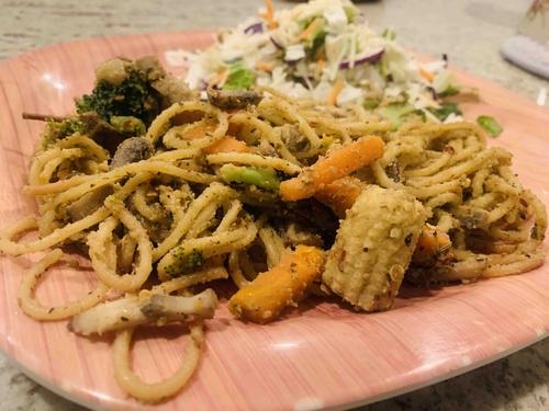 Soya Mushroom Spaghetti