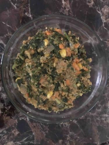 Mix veggies & soya upma