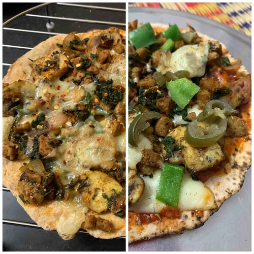 Pizza Under Micros (Bhakri Pizza)