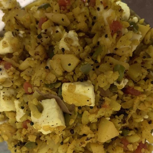 paneer cheese poha