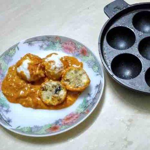 Malai kofta using appe pan
