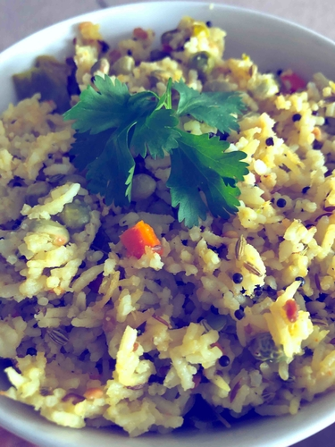 mixed veges lemon rice