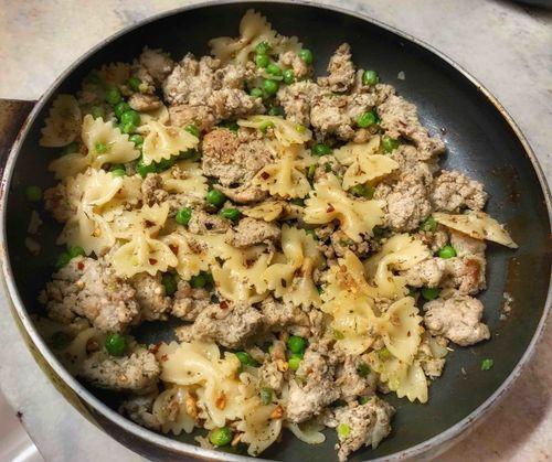 Farafelle chicken pasta.