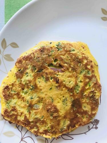 Masala Besan eggs chilla