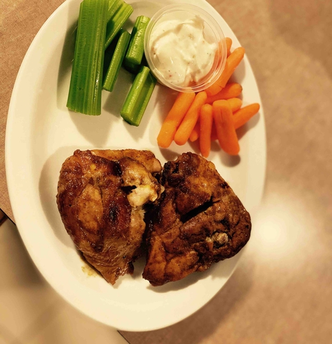 chicken thigh with celery and carrots