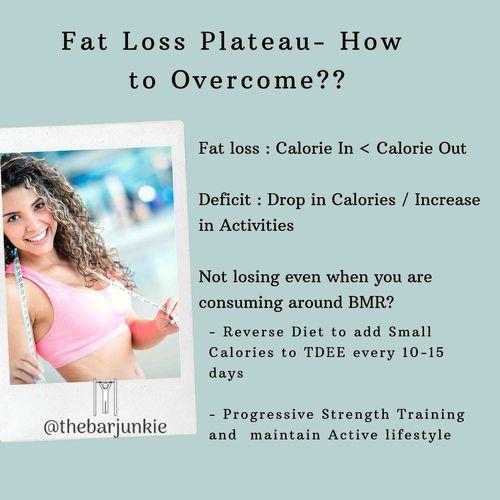 How to Overcome Fat Loss Plateau?