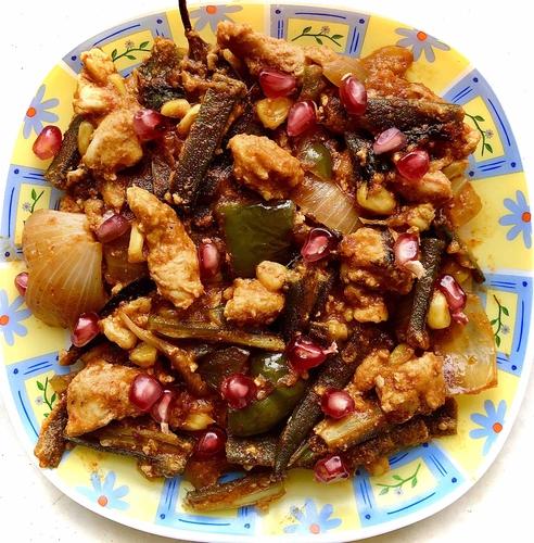 Okra Chicken Mix