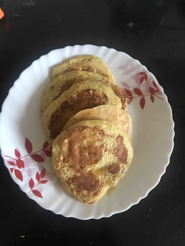 No milk banana whey pancakes
