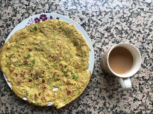 oats-egg omelette for Breakfast