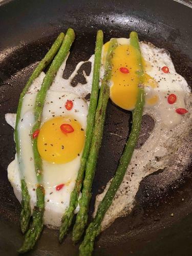 Asparagus & Sunny side up!