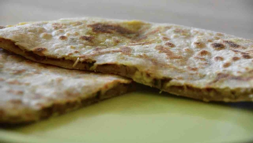Cheese and aloo methi parantha