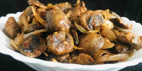 chili garlic mushrooms
