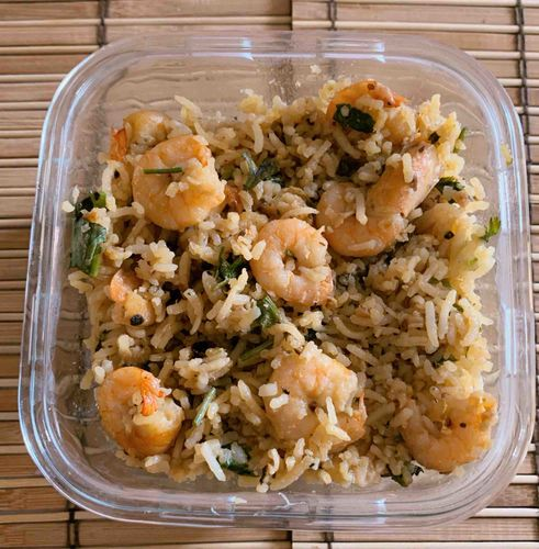 Garlic shrimp rice