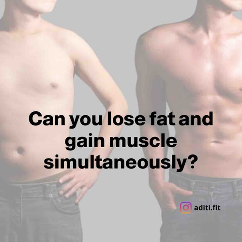 Why is it a challenge to gain muscle and lose fat simultaneously?