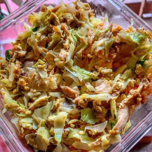 Chicken & Cabbage salad.