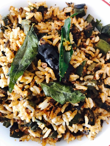 Okra/Bendi/Bendakaya rice