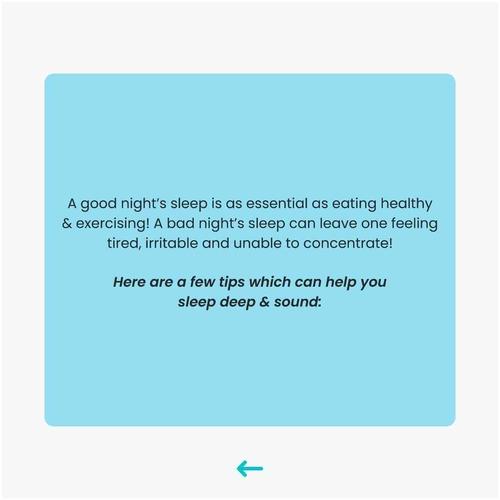 Tips for better, deep & sound sleep!