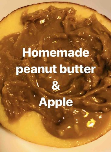 peanut butter & apple - easy quick evening snack